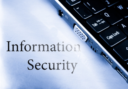 Information security with computer keyboard photo