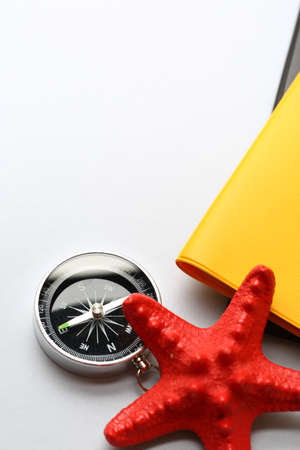 seastar: Compass and seastar on notebook