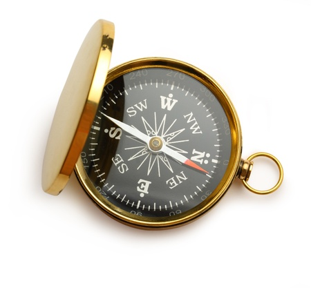 sightseeing: Golden vintage compass