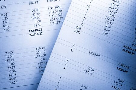 Numeri di bilancio di esercizio di calcolo finanziario