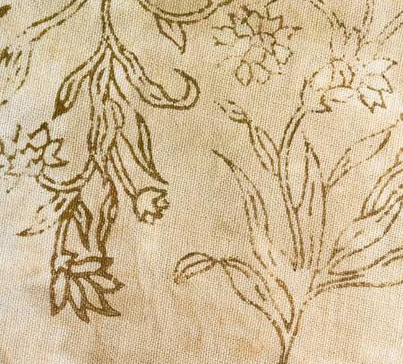 Soie batik avec des fleurs abstraites Banque d'images - 21551450