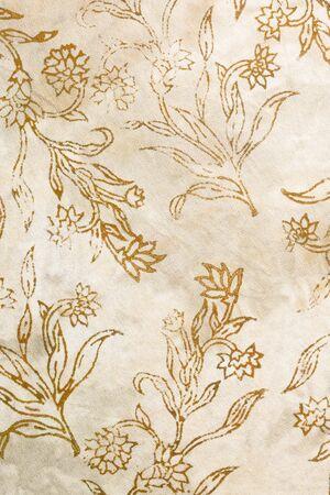 Soie batik avec des fleurs abstraites Banque d'images - 21551451