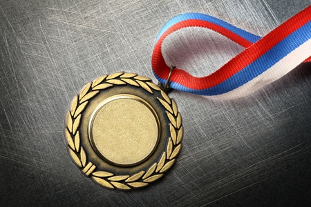 scratchy: Blank medal on steel scratchy background
