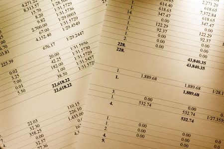 Operating budget numbers of financial calculation photo