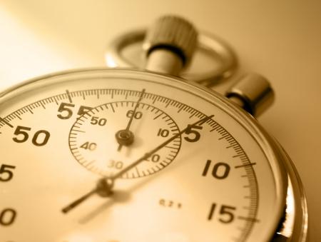 Stopwatch closeup in sepia toning
