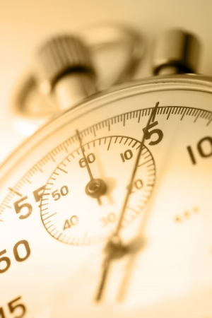 sepia toning: Stopwatch closeup in sepia toning