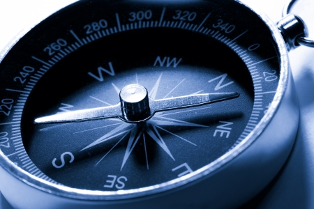 Compass in blue toning color