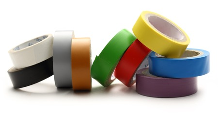 Adhesive tape on the white background