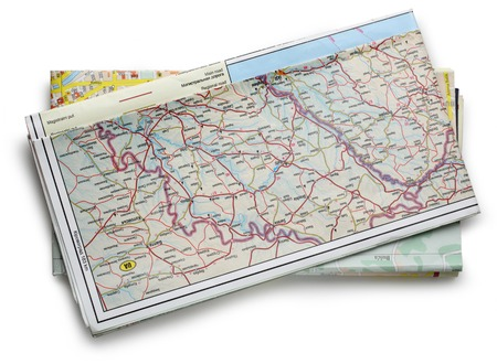 Road map plan on white