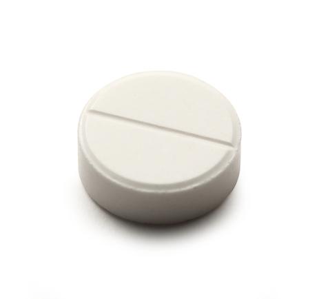 aspirin: Aspirin pill on white  Stock Photo