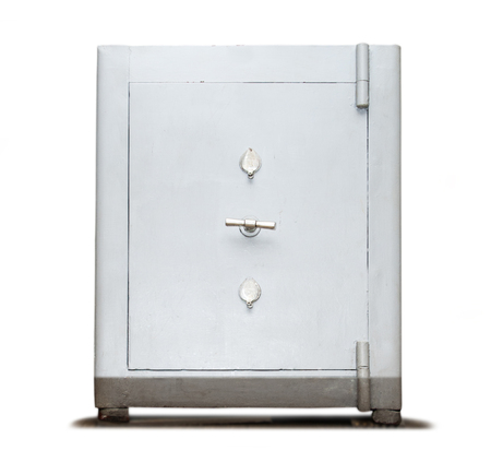 Lock box safe on white photo