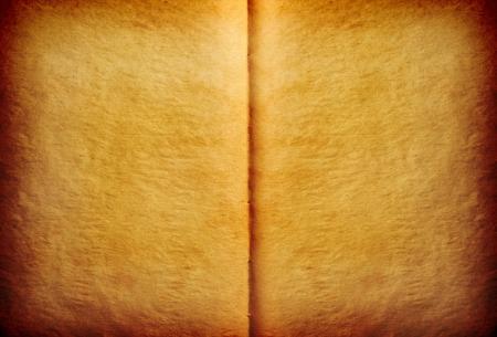 yellowed: Open yellowed book background Stock Photo