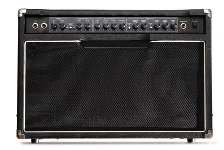 panel de control: Amplificador de la guitarra en blanco