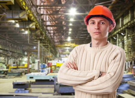 Foreman in the workshop of machinery plant Stock Photo - 24345328