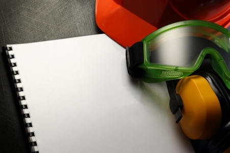 eyeshield: Blank sheet with helmet, goggles and headphones