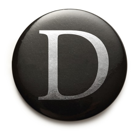 Single capital latin letter D photo
