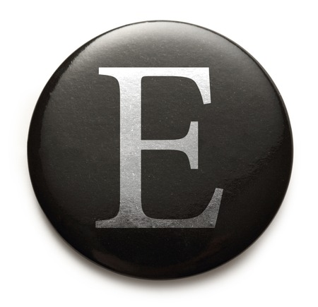 Single capital latin letter E photo