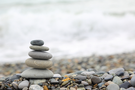 natural formation: Seashore with stone construction