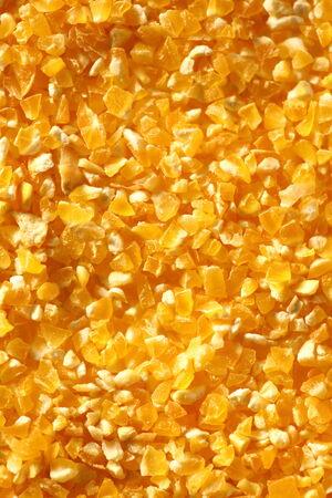 splintered: Yellow splintered corn