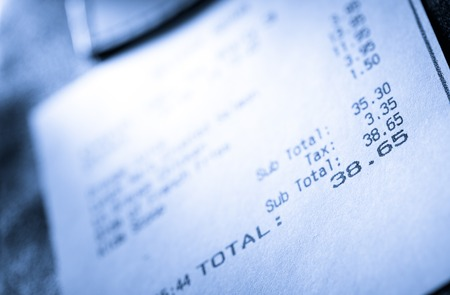 Cafe paper cheque for simple order photo