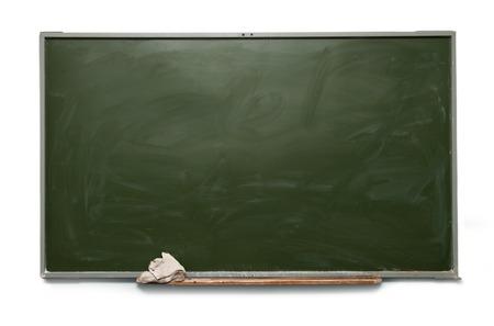 Blank school blackboard on white photo