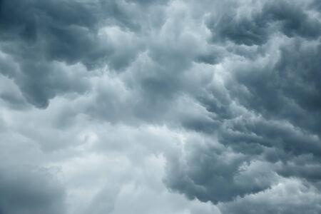 Stormy grey cloudy sky background Foto de archivo