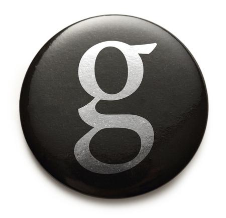 Single lowercase latin letter g photo