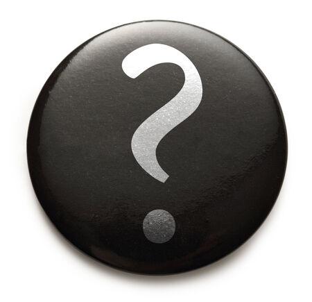 Query mark on black button photo
