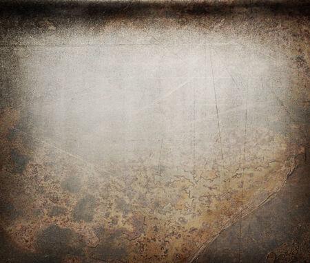 metal steel: Scratched rusty metal as background in closeup