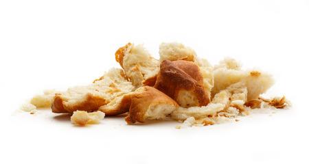 白い背景の上の乾燥パン粉します。 写真素材