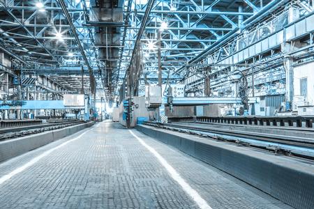 Machine shop of metallurgical works indoors room Standard-Bild