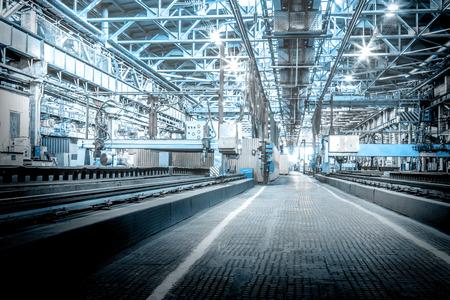Machine shop of metallurgical works indoors room Stock Photo