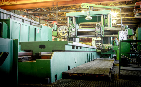 metallurgical: Machine shop of metallurgical works indoors room Stock Photo