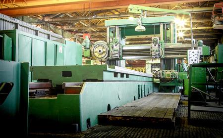 metallurgical: Machine shop of metallurgical works indoors room Stock Photo