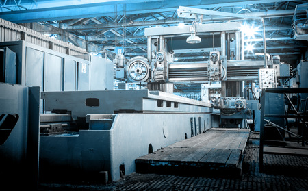 Machine shop of metallurgical works indoors room Archivio Fotografico