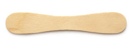 ice cream on a stick: Madera palito de helado sobre fondo blanco