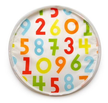 Colorful background with rendom numbers on white