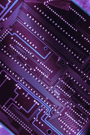 lila: Computer board closeup in lila light toning