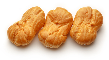 choux bun: Pastry dough eclairs with vanilla cream inside