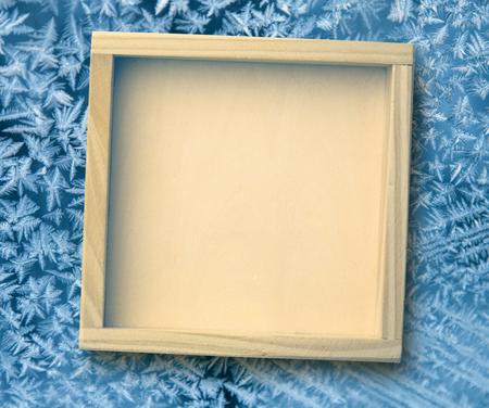 bordes decorativos: Blank nuevo marco de madera cuadrado como fondo