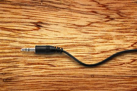 black jack: Black jack plug on the wooden background