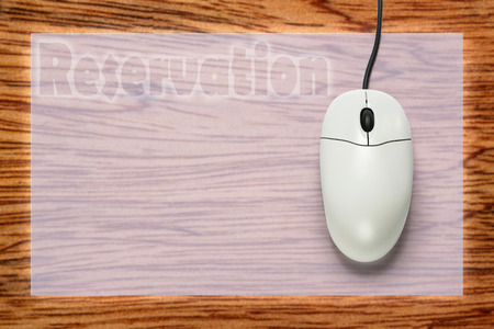 scrollwheel: Computer mouse on blank background  in closeup Stock Photo