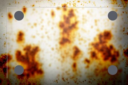 nameboard: Blank rusty background with blur board in closeup