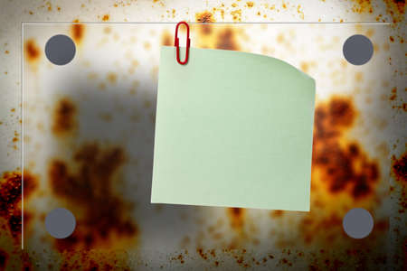 rusty background: Blank rusty background with blur board and paper