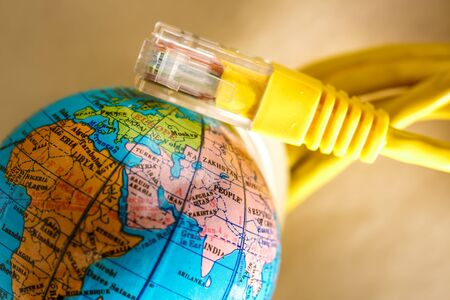 ethernet cable: Ethernet cable for computer and small globe