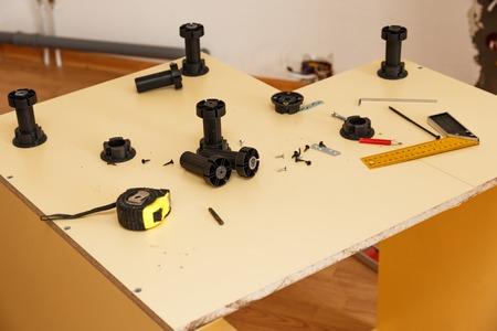 kitchen furniture: Furniture manufacturing inside kitchen legs
