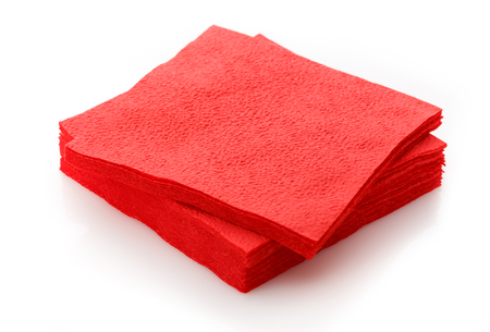 servilletas: Stack of new disposable paper table napkins
