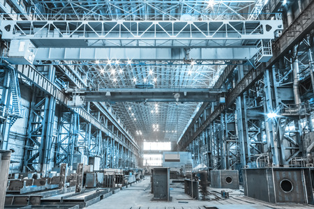 Machine shop of metallurgical works indoors room Éditoriale