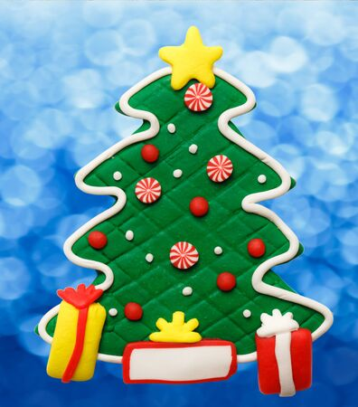 christmas tree illustration: Christmas decorative tree as illustration for design Stock Photo