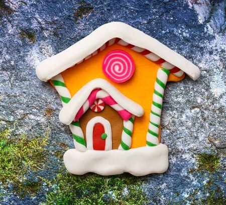 christmas house: Christmas decorative house as illustration for design